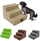 3-Step Dog Pet Stairs Indoor Ramp Portable Folding Puppy Ladder Bed Cushion HEA