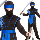 Kids Boys Ninja Childs Samurai Warrior Martial Arts Fancy Dress Japanese Costume