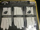 Callaway Golf Gloves Premium Cabretta Leather 3 Pack for Left Hand Glove Small