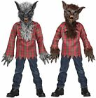 Werewolf Brown or Gray Child Boys Halloween Costume Sz M L Mask Gloves Shirt