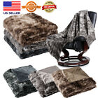 """60""""X80"""" / 50"""" X 60"""" Soft Faux Fur Fleece Blanket Throw Plush Cozy Warm Couch Bed image"""