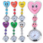 New Women Watch Smiling Face Heart ClipOn Pendant Nurse Fob Brooch Pockets Watch image