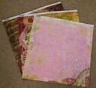 Bo Bunny 12x12 Scrapbook Paper Stickers My Darling Bella Blooms Motion 2 sheets