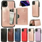 For Iphone 11 Pro Max Xr 6 7 8+card Slot Leather Case Magnetic Flip Wallet Cover