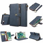 Retro Real Cow Leather Flip Wallet Card Slot Stand Case Cover For iPhone Samsung