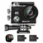 2019 Dragon Touch Vision 3 4K/30fps Action Camera 16MP WIFI DV Camcorder 32G SD