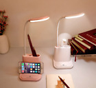 LED Desk Lamp USB Rechargeable Touch Dimming Adjustment Reading Study Bedroom