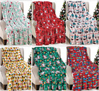 "Christmas Throw Blanket Holiday Theme  50"" x 60"" Cozy Soft Warm Durable Blanket image"