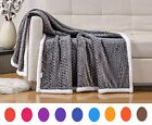Premium™ Sherpa Blanket Throw Fuzzy Bed Throws Reversible Blanket for Sofa & Bed image