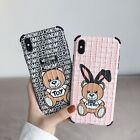 Fashion Luxury Moschno Baby Bear Case for iPhone SE Xs Max XR iPhone 11 Pro Max