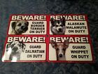 Guard Dog Signs *Many Different Breeds Available* Laminated   **FREE SHIPPING**
