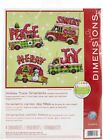 "Dimensions Plastic Canvas Ornament Kit 4/Pkg-Holiday Trucks Up To 5""X4"" 14 Coun"