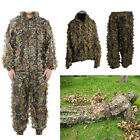 Ghillie Suit 3D Leaf Camo Camouflage Clothing Suits for Jungle Hunting Shooting