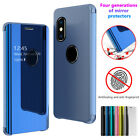 For iPhone 8 7 6 Plus XS MAX XR Luxury Smart Mirror View Leather Flip Stand Case