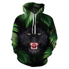 Hot Fashion Women Men Hoodies 3D Print Hidden Animals Wolf PulloverSweatshirts