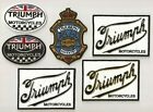 TRIUMPH MOTORCYCLES high quality sew on IRON-ON embroidery patch vintage emblem $11.5 USD on eBay