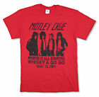 Motley Crue Whisky 1981 Red T Shirt New Official Band Merch Reissue image