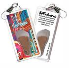 Las Vegas FootWhere® Souvenir Zipper-Pull. Made in USA