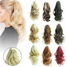 Jaw Ponytail Clip in Hair Extension Curly Wavy Claw Pony Tail Clip On Hairpiece