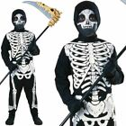Boys Skeleton Costume Child Haunted House Halloween Fancy Dress Kids Outfit