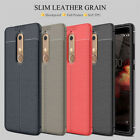 For Nokia 7.1 6.1 3.1 /2.1/2 V/9 Leather Soft TPU Shockproof Case+Tempered Glass