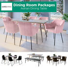 7/3pc Dining Table and Chairs Set Scandinavian Seat Dining Room Kitchen Settings