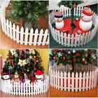 25/50X Picket Fence Garden Fencing Lawn Edging Home Yard Christmas Tree Fence