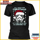 Star Wars T-Shirt Storm Trooper Droid Looking Christmas Black Unisex Full Size $27.99 USD on eBay