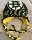 Boston Bruins Hockey Ear Flap & Braids Fleece Hat - Newborn Boys Girls Men Women $13.95 USD on eBay