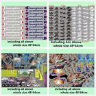 Whole sheet mixed Sports Logo Iron on Heat Transfer Patches DIY for Cloth