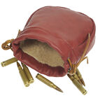 Leather Waist Rifle Cartridge Bag, Drawstring Shotgun Ammo Shell Holder Pouch US
