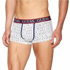 GUESS Men's Cotton Stretch Logo-Print Boxer Trunk Grey Lettering