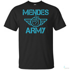 Mendes Gift Shawn Mendes Army Mens Short Sleeve T-Shirt Black Cotton Tee Gift