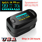 US Finger Pulse Oximeter Blood Oxygen SpO2 Monitor PR PI Respiratory Rate FDA CE
