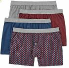 Stafford 4-Pack Men's 100% Cotton Comfort Knit Boxers Burgundy Pack