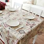 Square/Rectangular Tablecloth Floral Print Fabrics Dinning Table Cover Decor