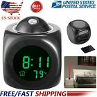 Digital Projection Alarm Clock LCD Display & Voice & Temperature for Kids Adults