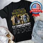 Star Wars 43th Anniversary 1977-2020 Men Black T-Shirt Gift $28.99 USD on eBay