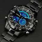 INFANTRY MENS ANALOG DIGITAL SPORT WRIST WATCHES STOPWATCH BLACK STAINLESS STEEL image