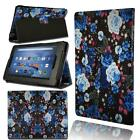 Smart Leather Stand Cover Case For Amazon  Fire 7 /HD 8 / HD10 With Alexa Tablet