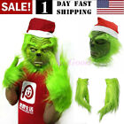 US!The Grinch Cosplay Mask Costume Christmas Prop Helmet How the Grinch Stole