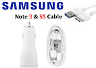 Original Samsung Galaxy Note 3 S5 Fast Wall Car Charger 3.0 Data Sync Cable Cord