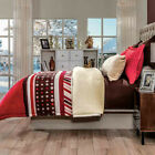 Budapest Red Comforter Cozy Sherpa Shams Set New Blanket Warm Home Bedding image
