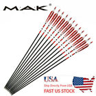 """US 6/12/24X 31"""" Real Feather Archery Arrows SP500 F Recurve&Compound Bow Hunting"""