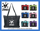 I LOVE ZUMBA CUSTOM TOTE PURSE GYM TRAVEL DANCE GYM SCHOOL BAG HEARTS