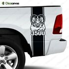 Dodge Ram 3500 Logo - Rear Truck Bed Graphic Decal Racing Vinyl Stripes Sticker