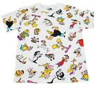 MENS CARTOON NETWORK RETRO ALL OVER 90'S LINEUP GRAPHIC PRINT THROWBACK T-SHIRT  image