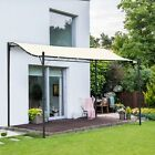 3 x 3 m Canopy Metal Wall Gazebo Awning Garden Marquee Shelter Door Porch