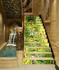 3D Green Lotus Plant AZ208 Stair Risers Decoration Mural Vinyl Wallpaper An