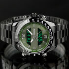 INFANTRY Mens Digital Analog Wrist Watch Sport Military Army Stainless Steel image